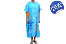 Alder Adult Ladies Hooded Towel Surf Poncho for Changing
