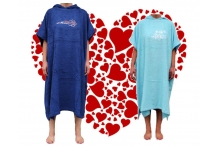 Valentines for Surfers, His and Hers Soft towel Poncho's