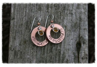 Brucebuds Circlet Copper Earrings