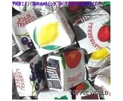 Fruit Caramels Chew Toffee/Sweets X 113g
