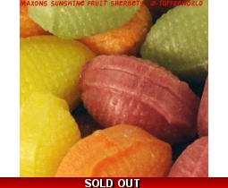 Maxons Sunshine Fruit Sherbets Retro Sweets