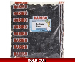 Haribo Pontefract Cakes Sweets 3kg Wholesale Sack/Bag