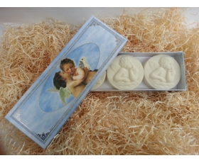 FIORENTINO BLUE ANGEL ´CARVED´ SOAPS 3 X 125g - UK ONLY