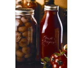 BORMIOLI SINGLE 1L QUATTRO STAGIONI PASSATA BOTTLE with LID UK MAINLAND