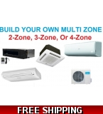 Custom Built Multi Zone Ductless Mini Split System