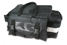 Black First Aid Bag with Reflective Tape