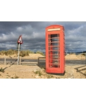 Red phone box. Sand Ban..