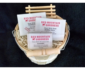 Goat Milk Soap Three Bar Gift Basket