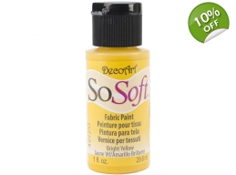 Bright Yellow - SoSoft Fabric Paint - 1 oz
