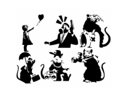 Banksy Stencil Collection