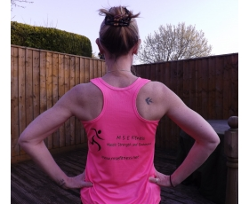 Ladies Pink Running Vest