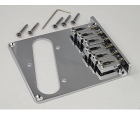 Chrome Modern Bridge + individual saddles for Telecaster