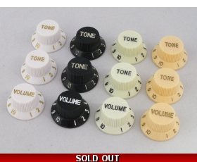 VOLUME & TONE KNOBS in 4 colours for Stratocaster guitar