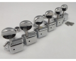 CHROME Machine Heads Split Shaft 6 in line for S..