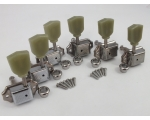 CHROME 3-a-side Vintage Machine Heads for Gibson..