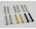 2 Humbucker Pick Up height adjustment screws Chr..
