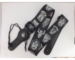 Ethnic Face Carvings themed design Guitar Strap