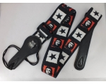 CHE GUEVARA Design Guitar Strap red, white & black