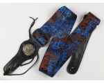 TRIBAL GRAFFITI Desgin Guitar Strap in blue/blac..
