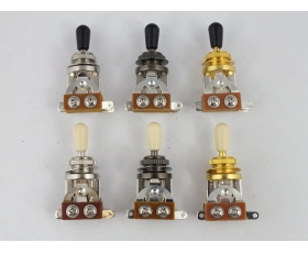 3 Way Toggle Switch for Electric Guitar in 3 Colours
