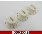 Parchment Volume & Tone Knobs for Stratocaster g..