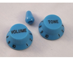 Blue Volume & Tone KNOBS for Ibanez guitar + optional matching Tip