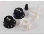 Black or White Volume & Tone Knobs for Ibanez gu..