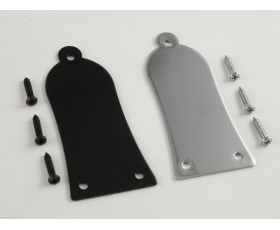 Epiphone Metal Truss Rod Cover Chrome or Blacck + Screws