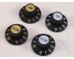 Pair of WITCH HAT KNOBS 1 Volume & 1 Tone in Chr..