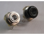 "JACK SOCKET 1/4"" Chrome or Black + Washer & Nut"