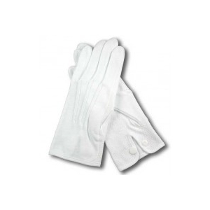 White cotton quilting gloves