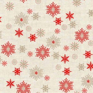 Scandi Snowflakes Red H..