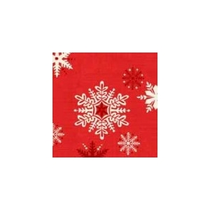 Scandi Snowflakes Red