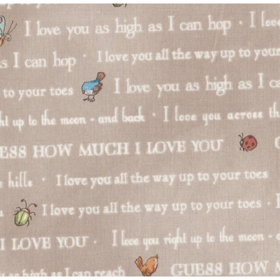 Guess how much I love you - Text Taupe