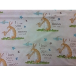 guess how much I love you - bunny toile cream