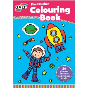 1st Sticker Colouring Book