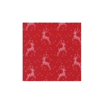 Nordic Stitches - Winter reindeer Red