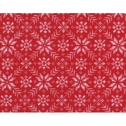 Nordic Stitches - Snowflakes Red