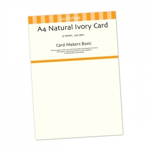 A4 Natural Ivory Card