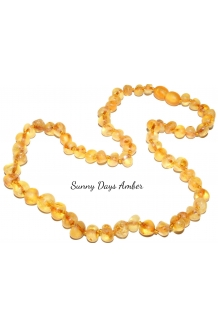 "Baltic Amber RAW Necklace Adult Size 17"" Lo.."