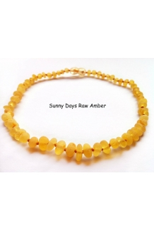 Baltic Amber Baby RAW Teething Necklace Rounded ..