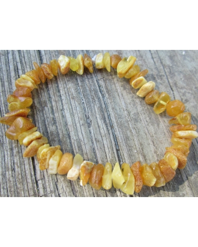 Baltic Amber Nuggets Stretch Bracelet Adult Size -- The Autumn