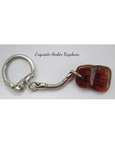 "Baltic Amber ""Exquisite Amber"" Keychain"