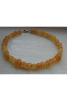 Raw Amber ANKLET Custom Size..