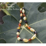 Baltic Amber Baby Teething BEAN SHAPE..