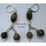 "Baltic Amber Earrings ""Shooting Star"" .."