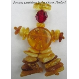"Baltic Amber Swarovski JANUARY ""Births.."
