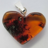 "Baltic Amber Pendant ""Loving Heart"" St.."