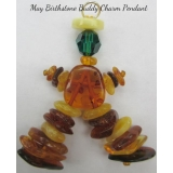 "Baltic Amber Swarovski MAY ""Birthstone.."