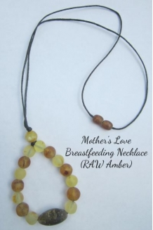"Breastfeeding Necklace RAW Baltic Amber ""Mo.."